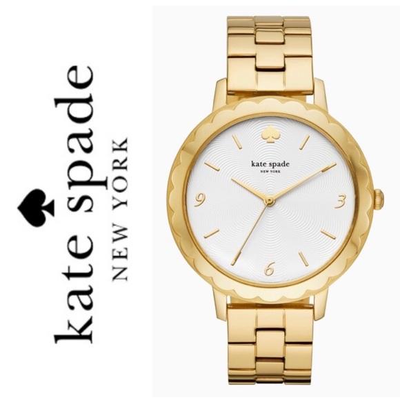4029f81b321 New Kate Spade morningside Gold Tone Watch